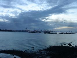 sembawang shipyard, singapore by oushua