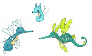 sea dragons by FrozenFeather