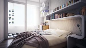 Hague Apartment Living bedroom by angelofernandes