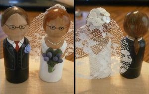 Hand-painted Cake Toppers by Merwenna