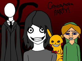 Creepypasta Party by LlamasMakeMeGiggle