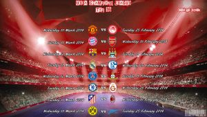 Champions League Top 16 by PanosEnglish