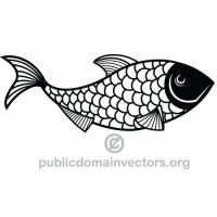 Fish vector public domain by publicdomainvectors