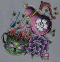 Teapot and skull design by Genocide-Al