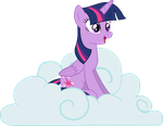 Pyrobug's Crappy Vectors: Twilight Sitting w Cloud by Pyrobug0