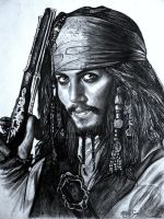 pirate pencil drawing by moisessurielart
