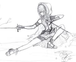 Art II Assignment: Superhero: First sketch by AroraNoelleSNSD-23