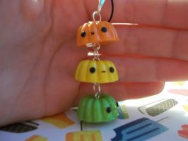Polymer clay Jello phone charm. by Sosweetcharms