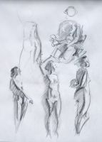 Figure Quick Sketches by Wildweasel339