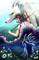 Princess Mononoke - Day and Night by juugatsuhoshi