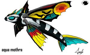 Godzilla Animated: Aqua Mothra by Blabyloo229