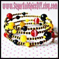 Pikachu Color Rave Bracelet by SugarAndSpiceDIY