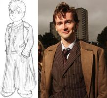 The 10th Doctor- david tennant by pikachugirl