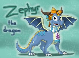 Art trade: Zephyr the Dragon by CartoonSilverFox
