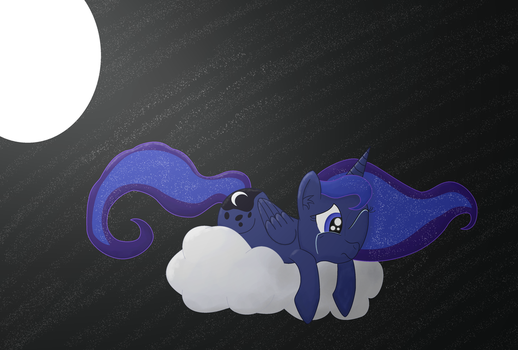 ''It's Just Not Fair...'' - Luna Speepaint by Dragonsong3
