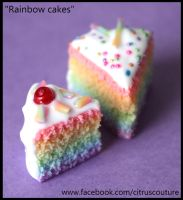 Cake collection: Rainbow cake charms by citruscouture