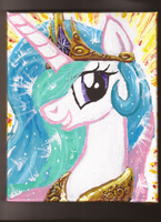Princess Celestia Beams by Pwnyville