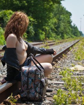 Train Tracks and Ta Ta's No 3 by BrianMPhotography