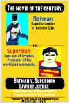 Batman V. Superman 1983 comic movie poster pop art by TheGreatDevin
