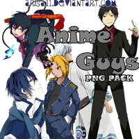 Anime Guys PNG Pack by arisa11