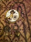 Keeper of the Keys Steampunk Necklace by NenaPerrill