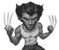 Hugh Jackman - Wolverine Sketch by infernovball