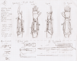 Vambrace weapon, concept 3 by HaroldPotter