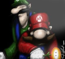 Mario and Luigi by hammn