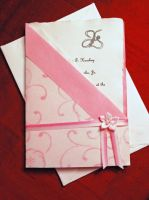 Small Pink Wedding Invitation by Adornments