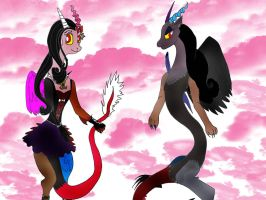Lenore and Raven sister pic by Selinelle