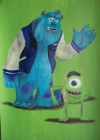 Mike and Sulley (Uni) by billywallwork525