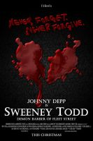 Sweeney Todd poster design by Rowi