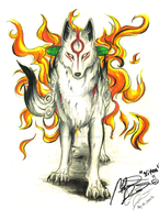 Amaterasu okami  Walk. by Skunk-Mantra