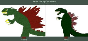 Before and After: Godzilla 2000 by GIGAN05