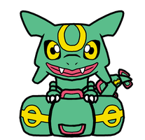 Rayquaza Pokedoll Art Redesigned by methuselah-alchemist