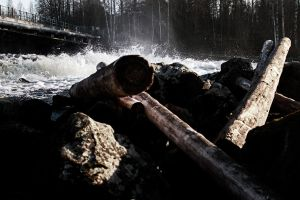 Logs and rapid by RLPhotographs