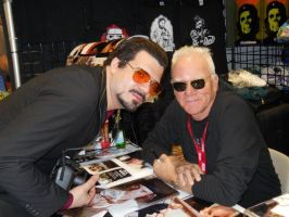 Me with Malcolm McDowell by Adamantium84