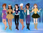 Modern Disney - Leading Ladies by GLENDATHEKILLERDOLL