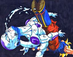 ssjgoku vs. freeza BOOT 2 FACE by trunks24