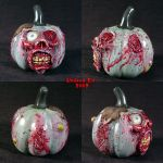 Zombie Pumpkin decoration by Undead-Art