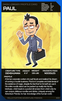 Dark Library Profile Card: Paul by PersonWhoDrew