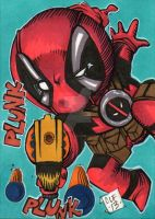 Baby Deadpool PSC by Chris Foreman by chris-foreman