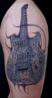 giger guitar by tat2istcecil