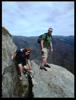 Me and Jess on the Edge of Table Rock by OdditiesByErnie