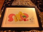 Fluttershy and Angel Cross-Stitch (by my sister) by spalpp