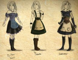 Alice: Madness Returns Dresses by freelance-kitty