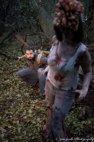 Last of Us: Joel and Clicker by BevanMaria
