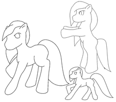 Free Lineart - 12 MSPaint friendly ponies by CassidyPeterson