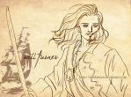 Pencil Sketch - Will Turner by Neldorwen