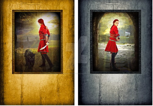 Pair of Epic Fantasy Book Covers by riogirl9909